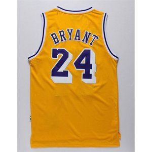 Los Angeles Lakers #24 Kobe Bryant Gold Jersey